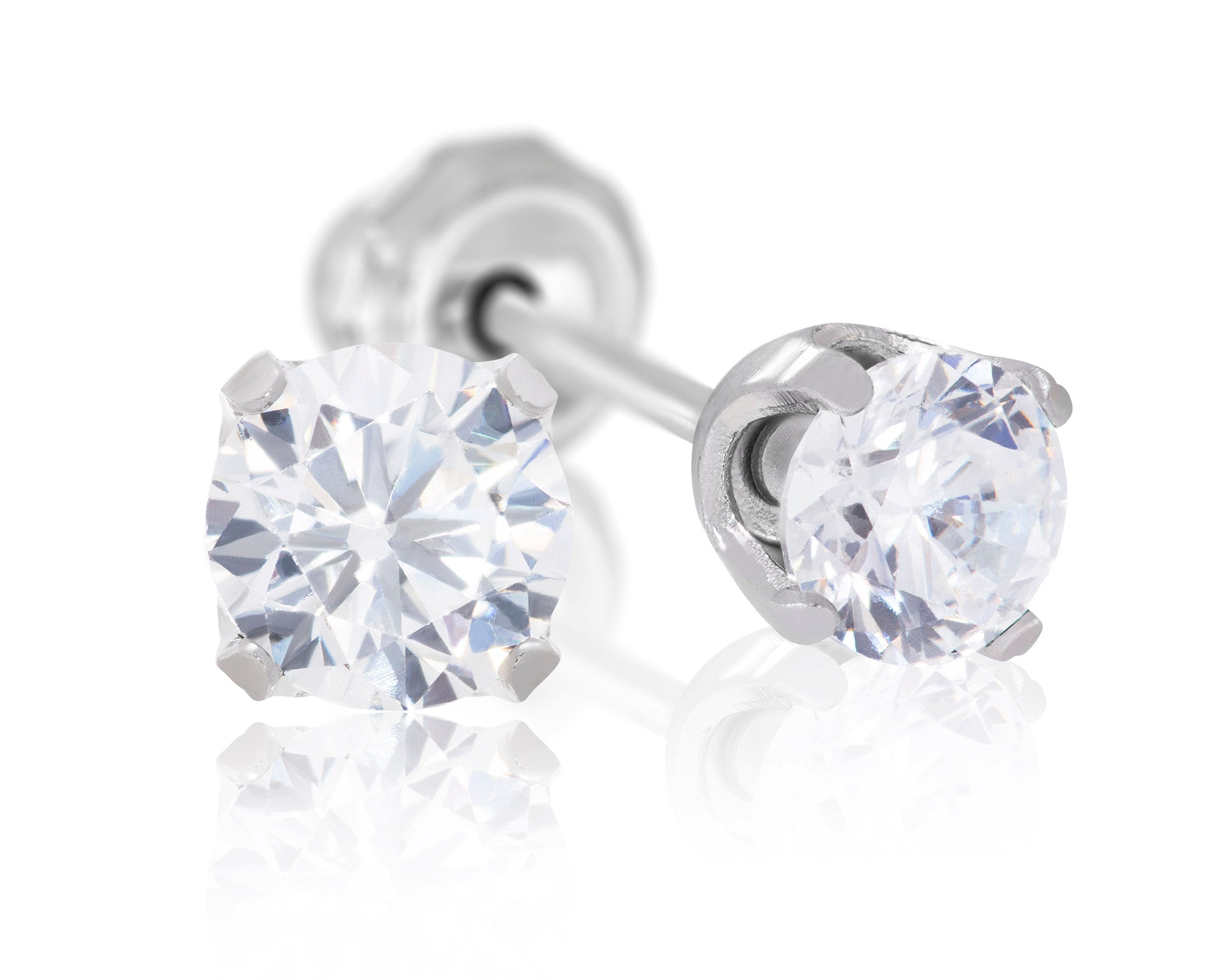 Stainless Steel Medical Grade 5mm CZ Piercing Studs