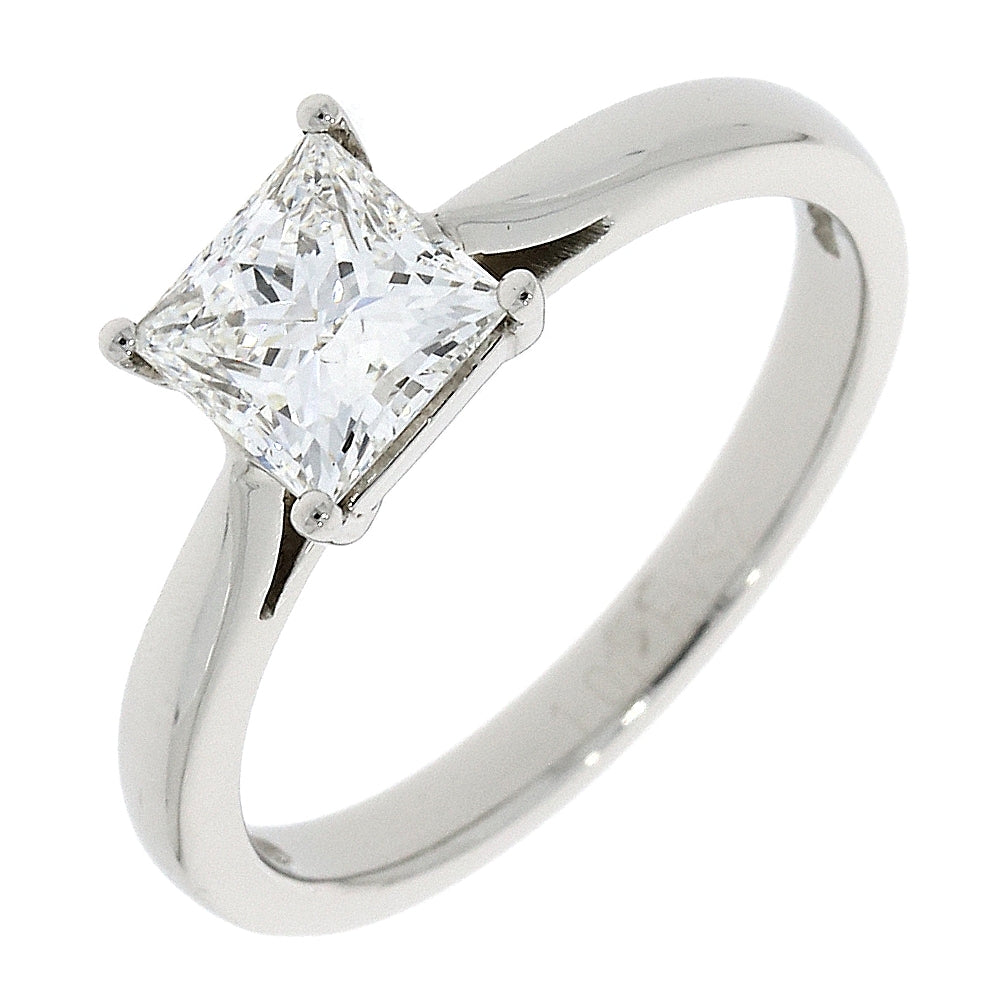 Platinum 1.00ct Princess Cut Diamond Ring