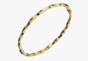 9ct Gold Twisted Hinged Bangle