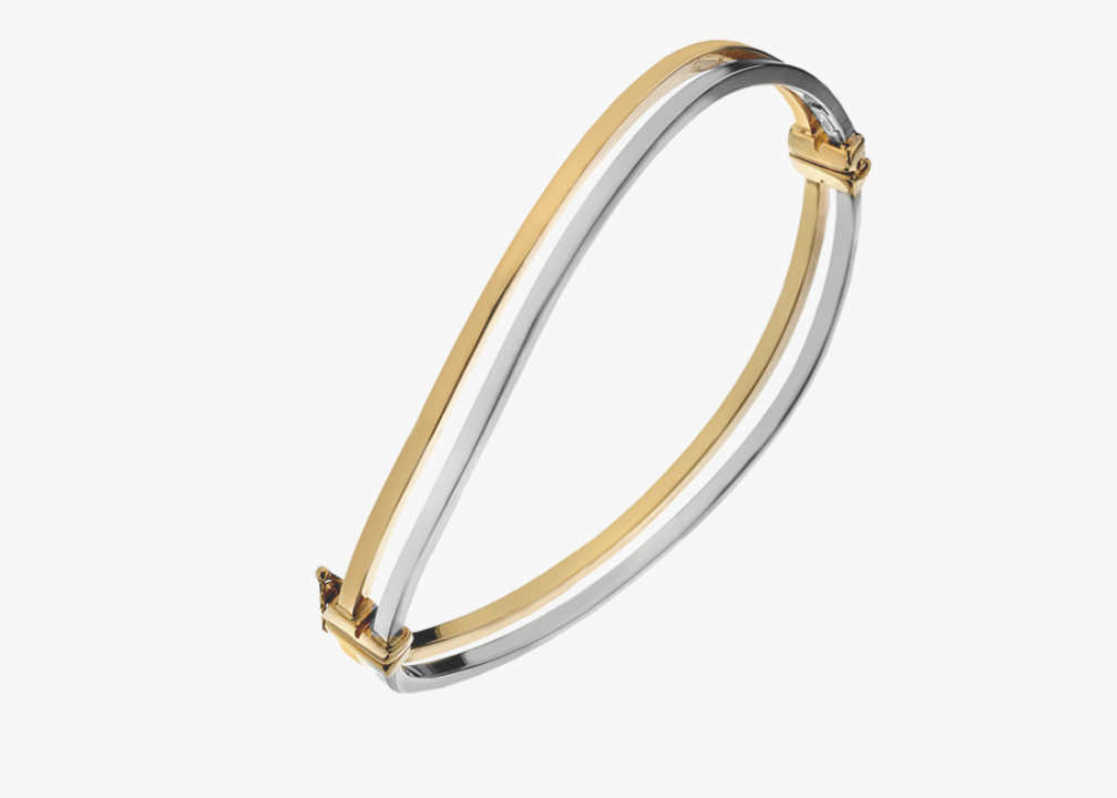 9ct Gold Two Colour Bangle