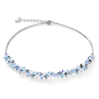 Coeur De Lion Swarovski® Crystals & Stainless Steel Light Blue Necklace