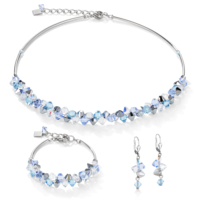 Coeur De LionSwarovski® Crystals & Stainless Steel Light Blue Bracelet