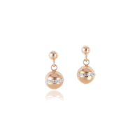 Coeur De Lion Twisted Pearls Stainless Steel Rose Gold Earrings
