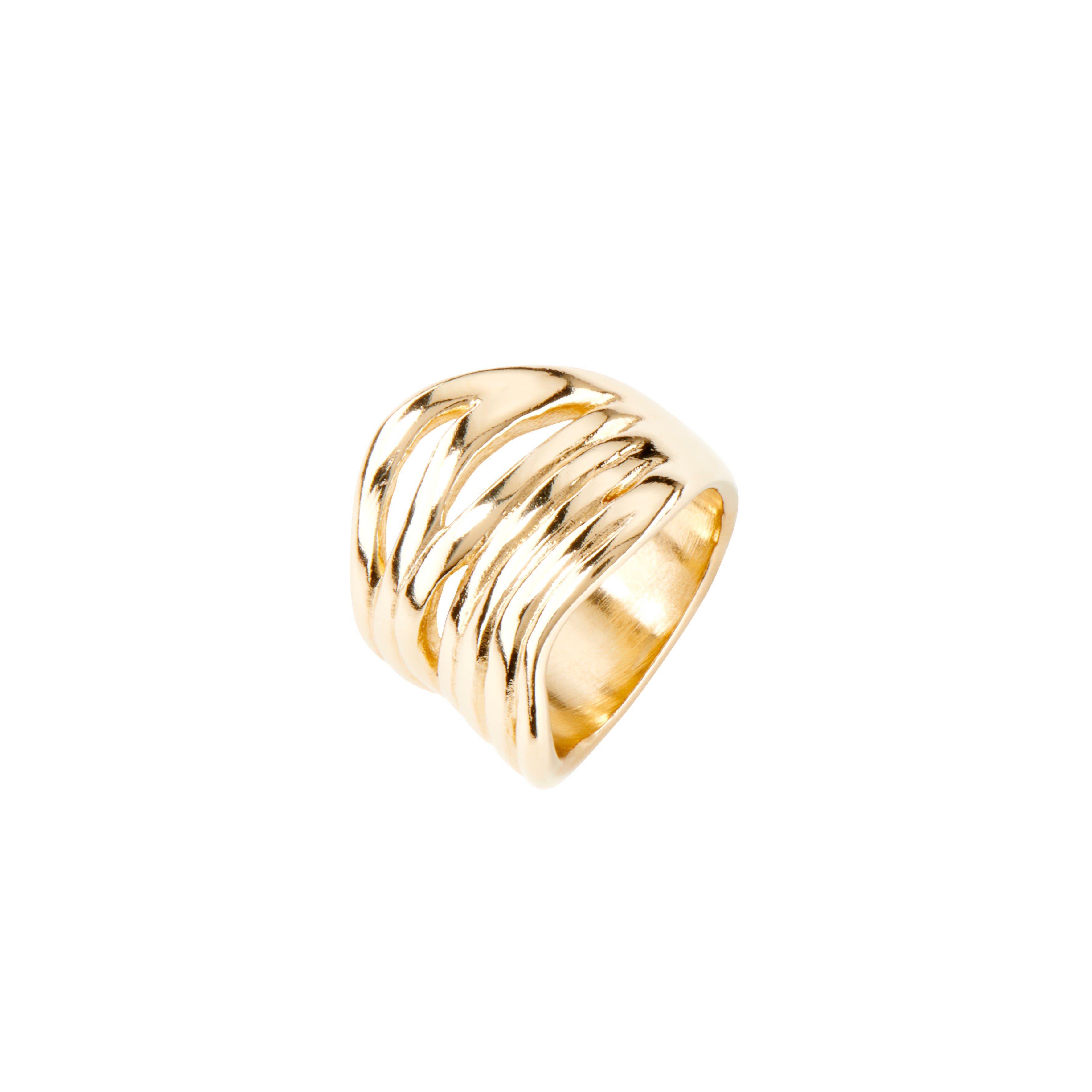 UnoDe50 Gold Plated Nihiwatu Beach Ring