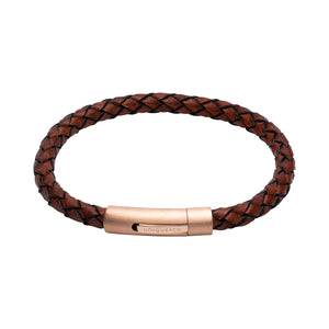 Brown Leather 21cm Bracelet