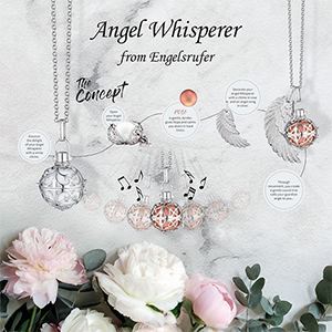The Angel Whisperer Rose Gold Plated and CZ Small Pendant