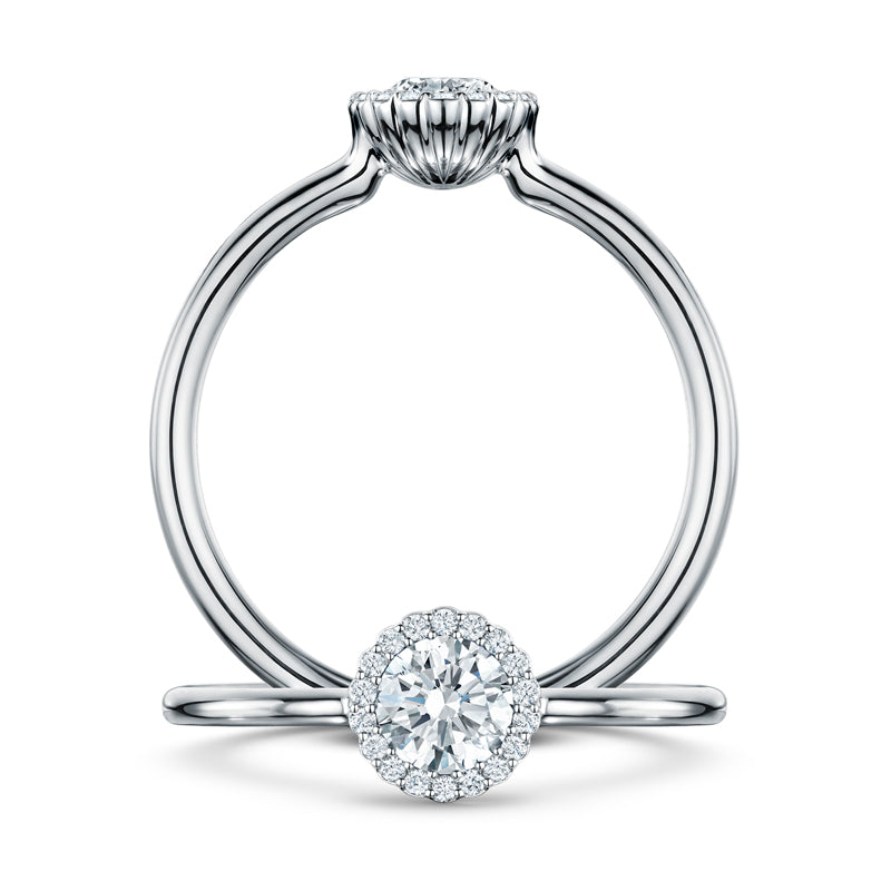 Cannele Platinum Diamond set Cluster Ring