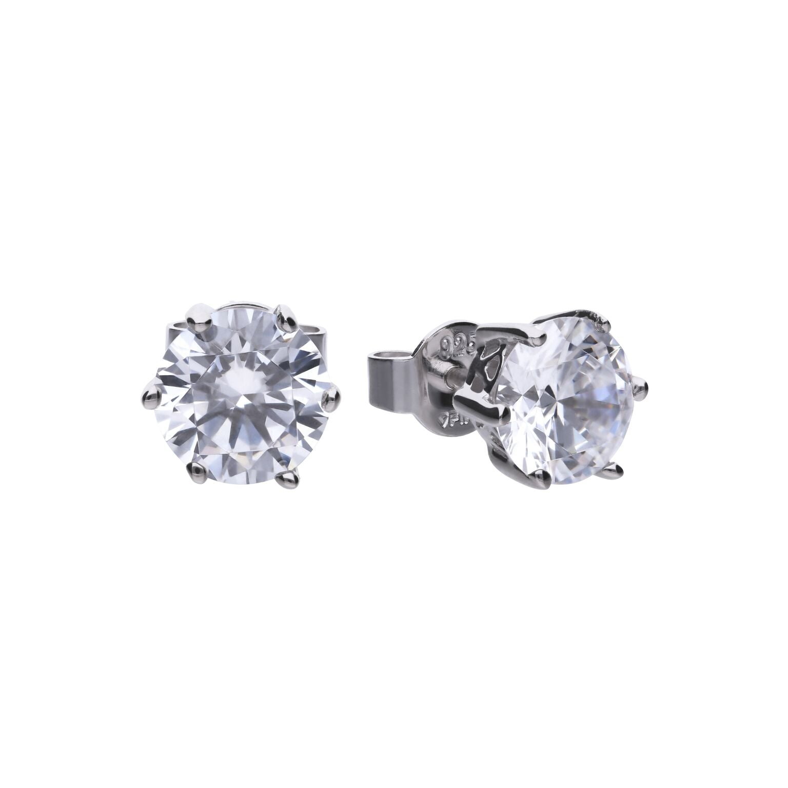 Diamonfire Sterling Silver 3ct CZ Stud earrings