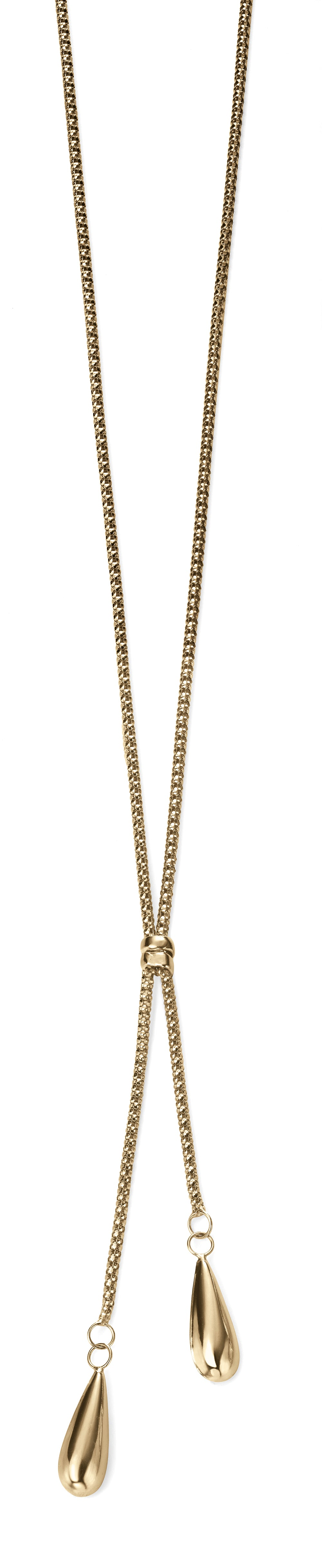 9ct Yellow Gold Double Teardrop Necklace