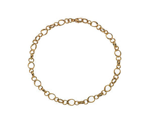 9ct Yellow Gold Fancy Sienna Link Bracelet