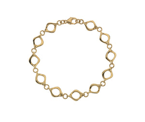 9ct Yellow Gold Open Link Sienna Bracelet