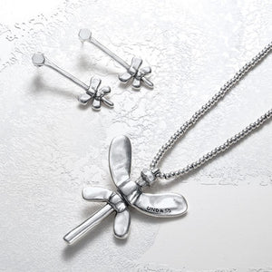 UnoDe50 Silver All Of Me Butterfly Necklace