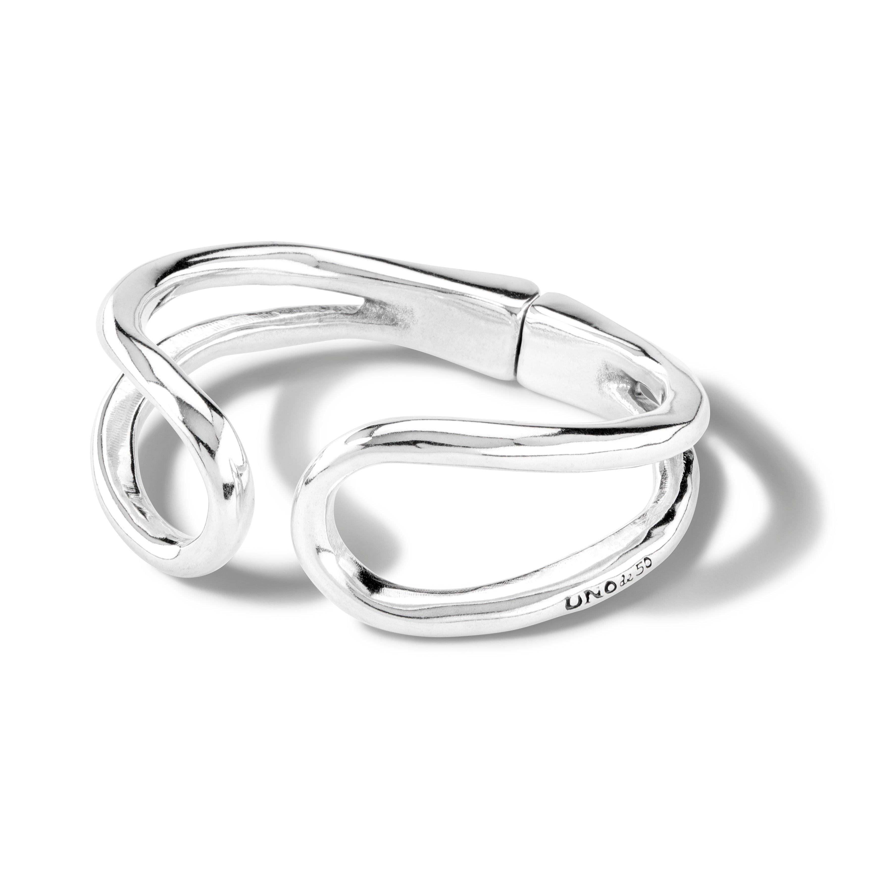 UnoDe50 Silver Double Reload Bangle
