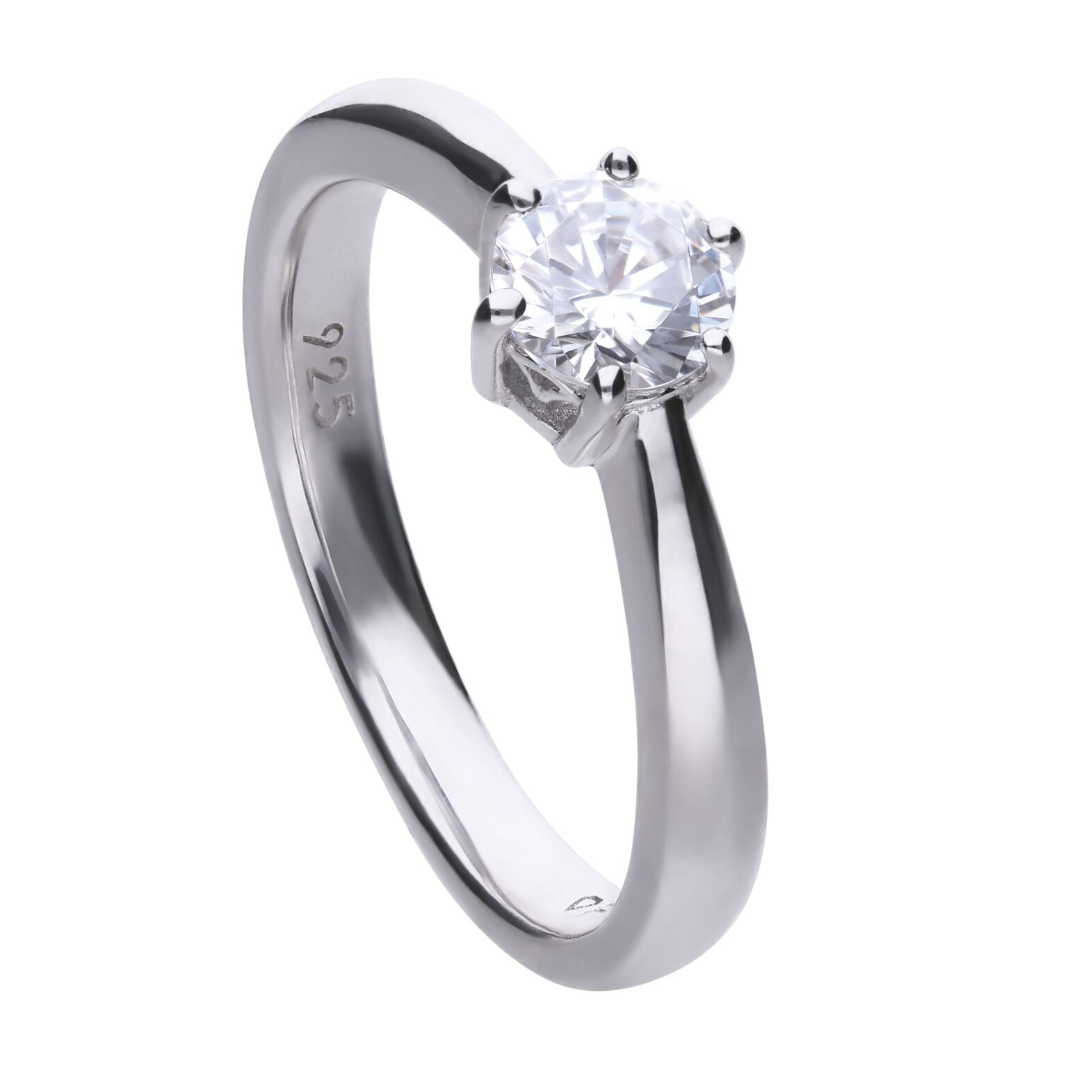 Diamonfire Sterling Silver 0.75ct CZ Ring