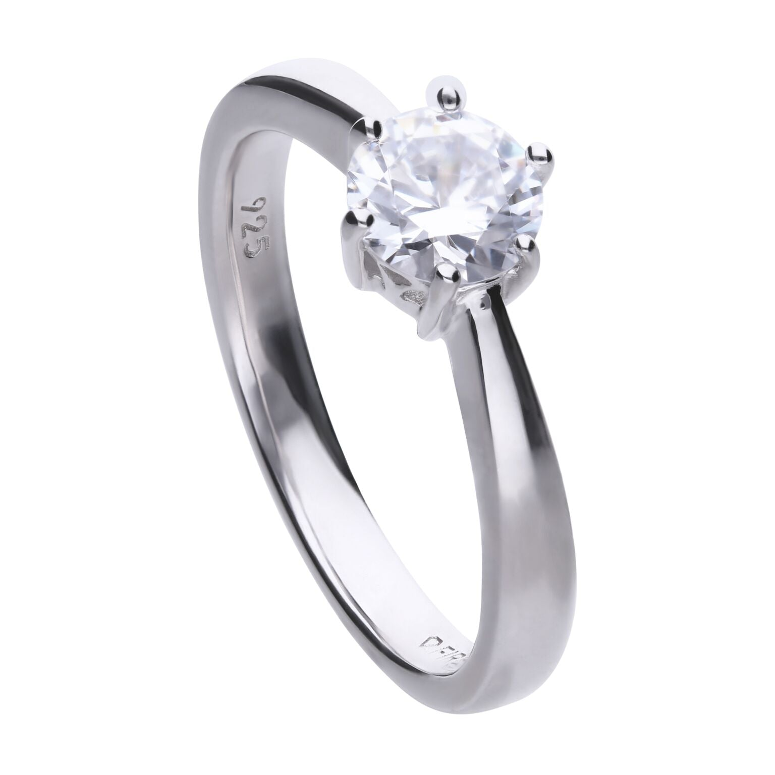 Diamonfire Sterling Silver 1.ct CZ Ring