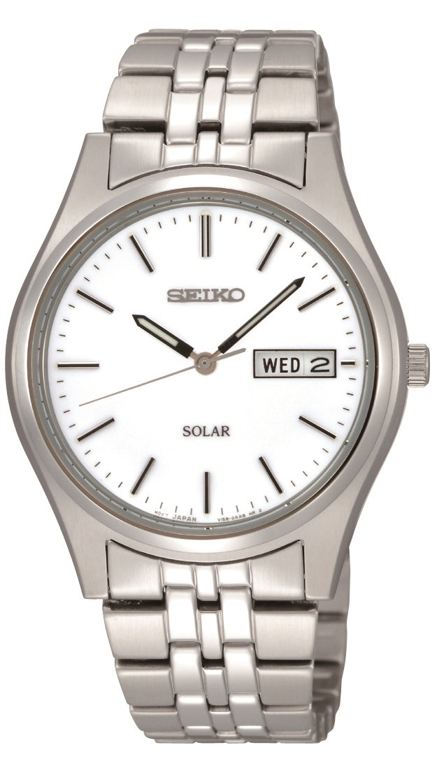 Seiko Solar Stainless Steel Bracelet Watch