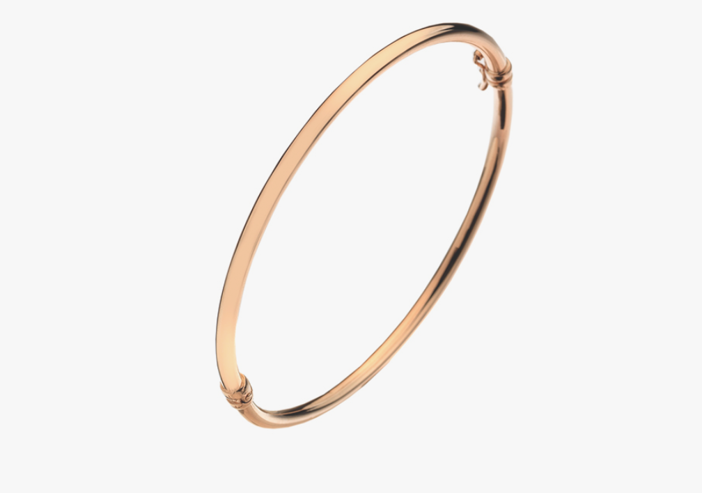 9ct Rose Gold Plain Bangle