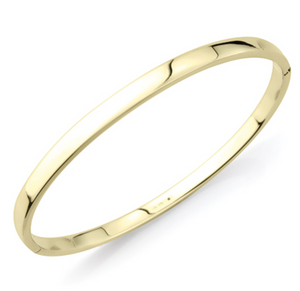 9ct Yellow Gold Hinged Oval Bangle