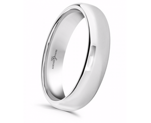 Palladium 6mm Plain Wedding Ring