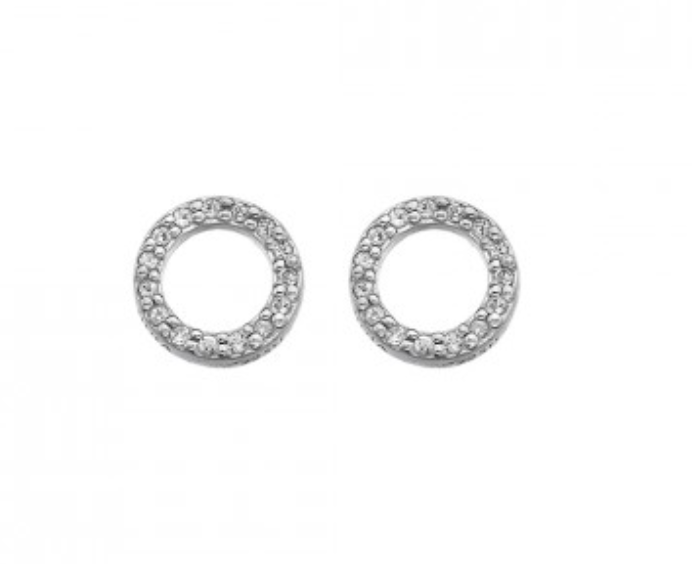 Hot Diamonds Sterling Silver Circle Stud Earrings