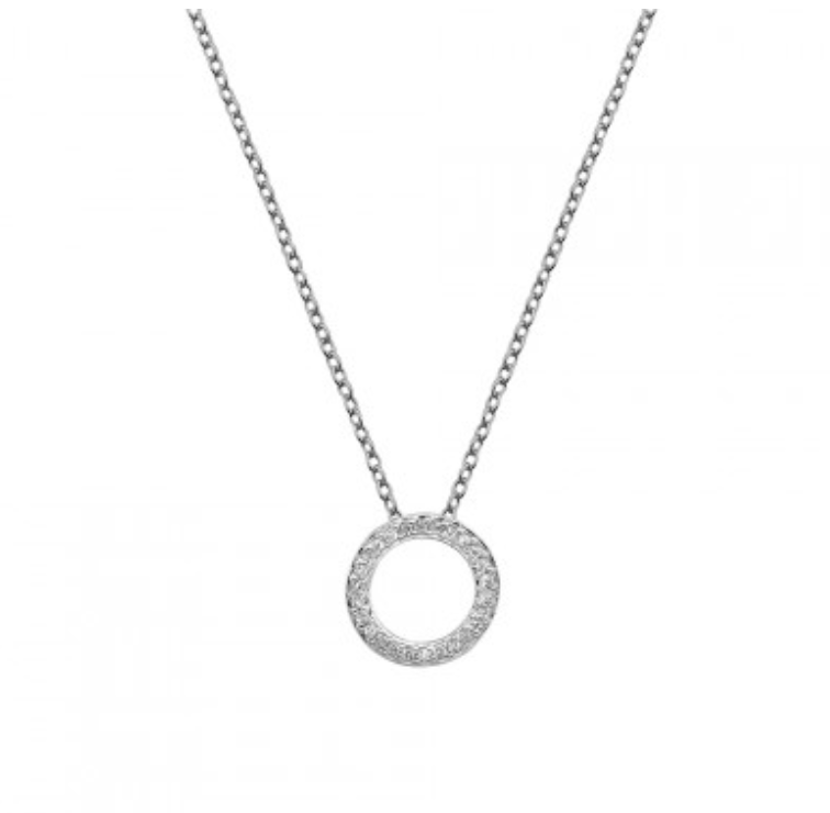 Hot Diamonds Sterling Silver Circle Pendant and Chain