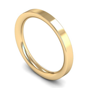 18ct Yellow Gold Plain 2.5mm Wedding Ring