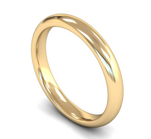 9ct Yellow Gold 3mm Plain Wedding Ring