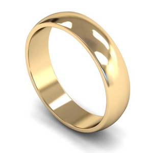 18ct Yellow Gold Plain 5mm Wedding Ring
