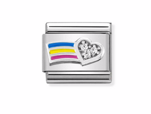 Nomination Silver Rainbow Charm