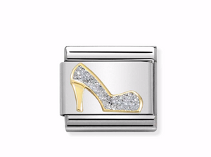 Nomination Steel and Yellow Glitter High Heel Charm