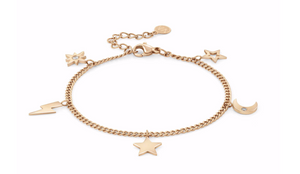 Nomination Rose Gold Plated Stardust Charm Bracelet