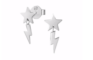 Nomination Star and Lightning Bolt Drop Earrings