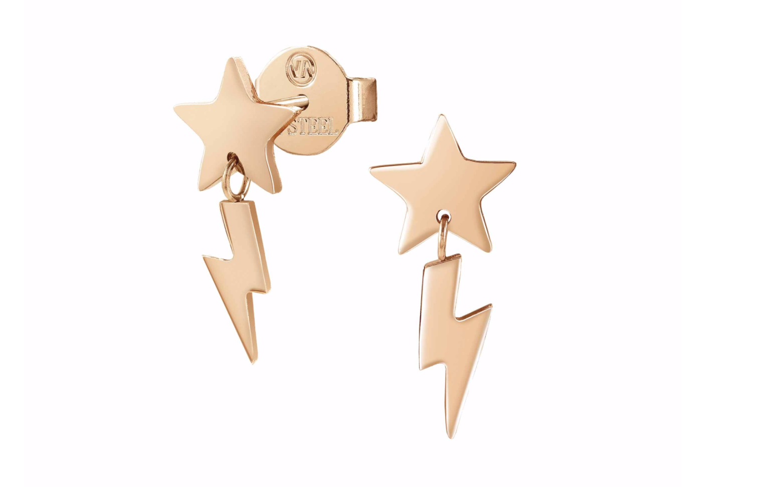 Nomination Rose Star and Lightning Bolt Drop Earrings