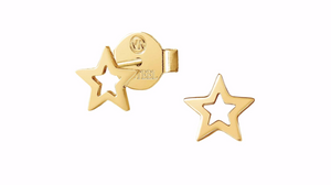 Nomination Yellow Cut Out Star Stud Earrings