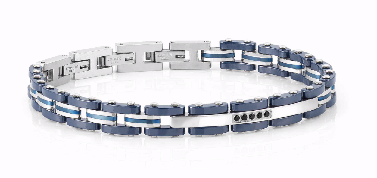 Nomination Gents Blue and Stainless Steel Bracelet
