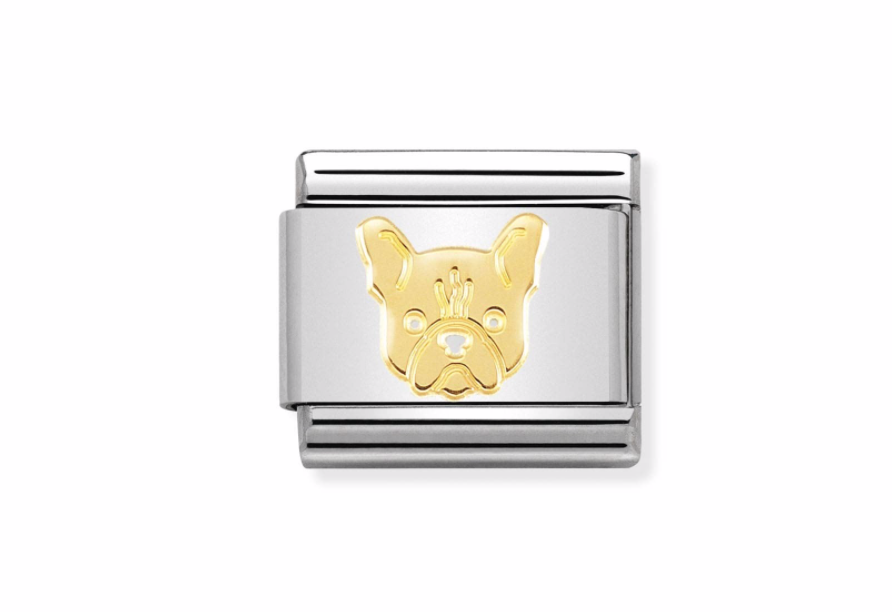 Nomination Steel and Yellow French Bulldog Charm