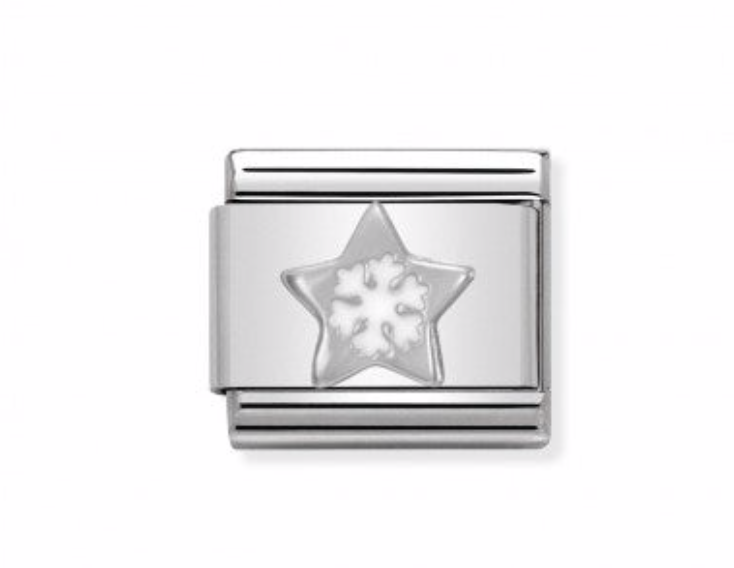 Nomination Composable Classic Link Star with Snowflake