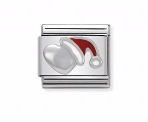 Nomination Composable Classic Link Heart with Christmas Hat