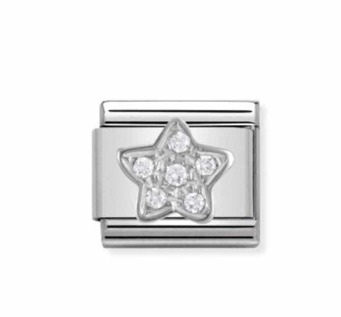 Nomination Composable Classic Link Star in Silver CZ