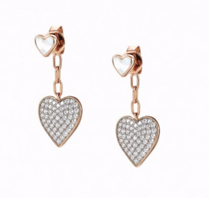 Nomination Short Vita Earrings with Hearts