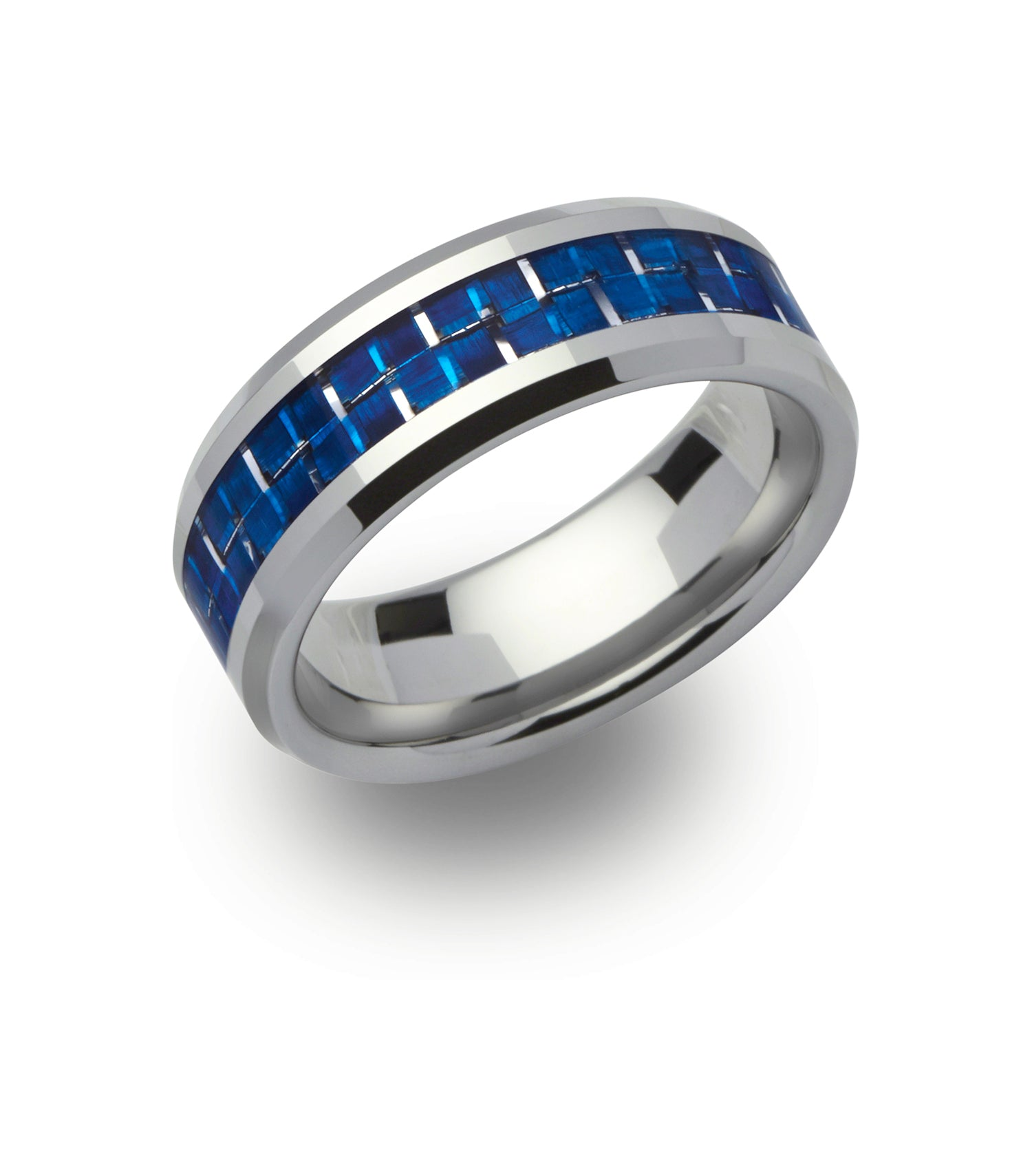 Tungsten Blue Carbon Fibre Ring