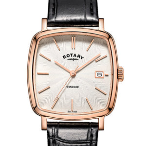 Rotary Rose Gold Plated Windsor Cushion Watch