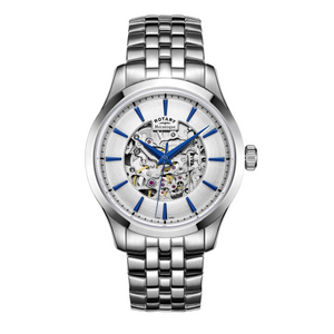 Rotary Mens Chrome Automatic Bracelet Watch