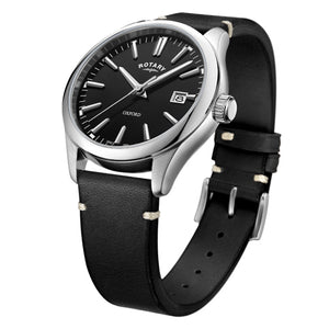 Rotary Oxford Black Stainless Steel Quartz Watch