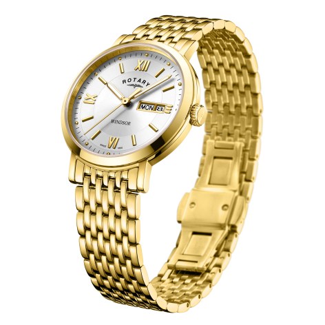 Rotary Gents Gold PVD Bracelet Windsor Watch