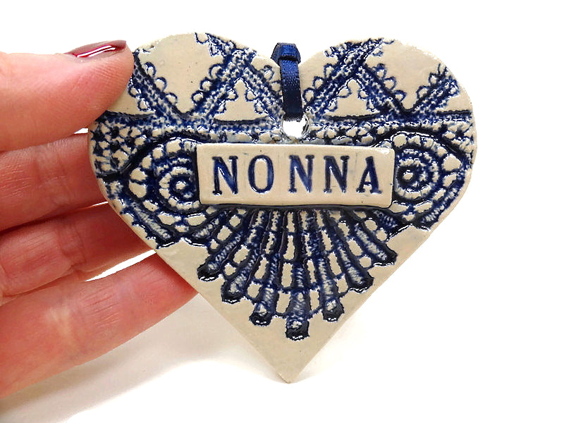 Christmas tree Nonna ornament from Magic Moon Pottery