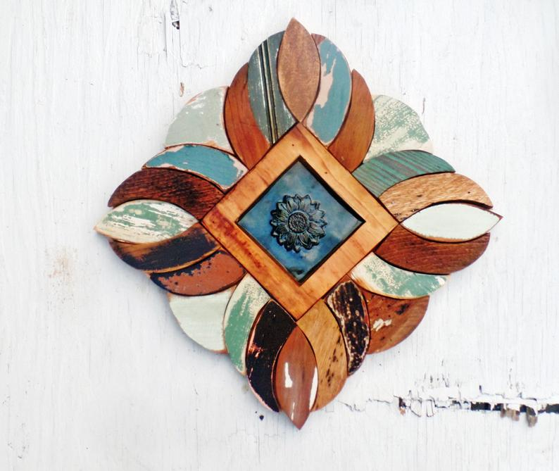 Wood and ceramic wall decor from Woodenaht