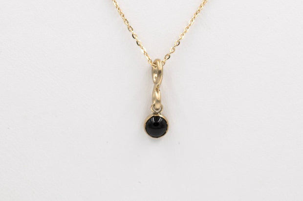 14k Gold Filled Black Onyx Pendant Necklace