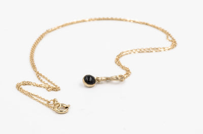 14k Gold Filled Onyx Pendant Necklace