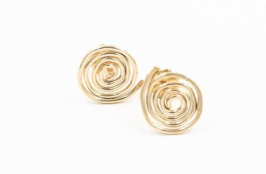 tiny 14k gold post earrings